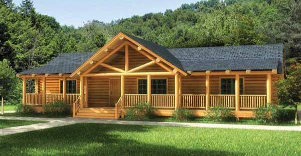 Finally A One Story Log Home That Has It All Click To View Floor Plan